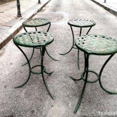 Vintage: 2 TABURETES FRANCESES DE JARDÍN. Lote 270566448