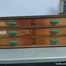 Vintage: ANTIGUO EXPOSITOR DE 3 CAJONES HILATURAS FABRA COATS. Lote 278188983
