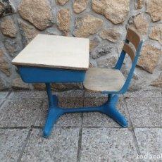 Vintage: ANTIGUA SILLA CON PUPITRE CON CAJONERA.. Lote 278544023