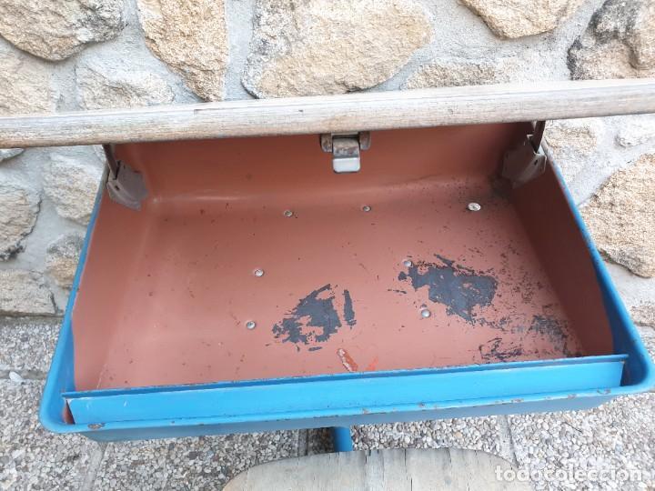 Vintage: Antigua silla con pupitre con cajonera. - Foto 5 - 278544023