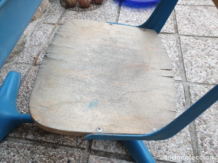 Vintage: Antigua silla con pupitre con cajonera. - Foto 9 - 278544023