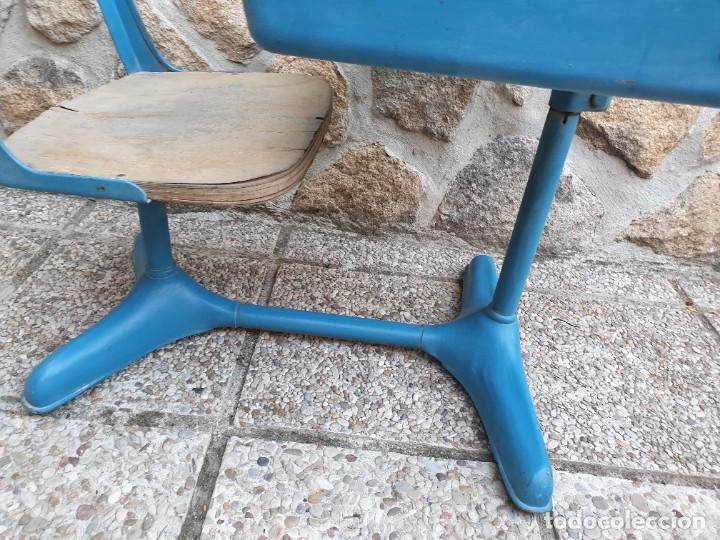 Vintage: Antigua silla con pupitre con cajonera. - Foto 12 - 278544023