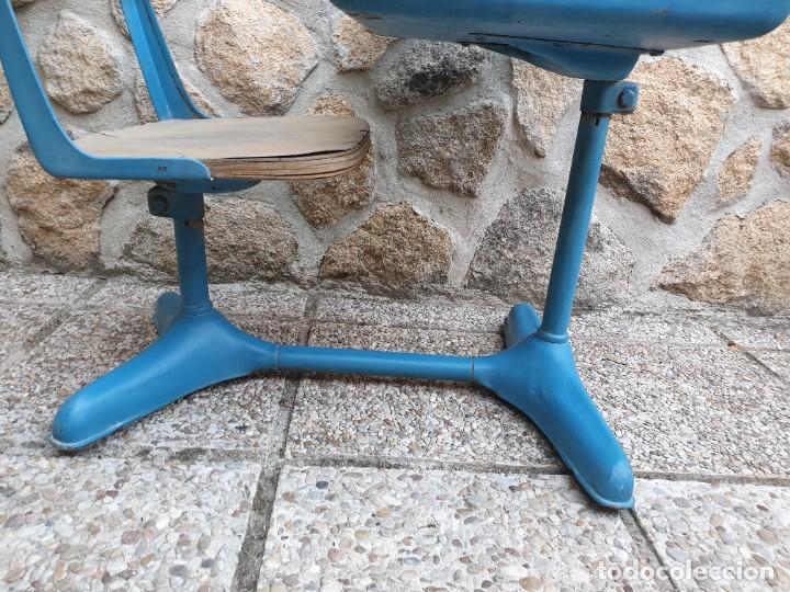 Vintage: Antigua silla con pupitre con cajonera. - Foto 15 - 278544023