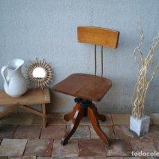 Vintage: ANTIGUA SILLA INDUSTRIAL GIRATORIA. MUY BUEN ESTADO.. Lote 280161108