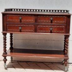 Vintage: MUEBLE BAR O LICORERA CON 4 CAJONES Y RUEDAS. Lote 282206638