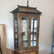 Vintage: VITRINA CHINO,PINTADO A MANO, EN PERFECTO ESTADO. Lote 285041533
