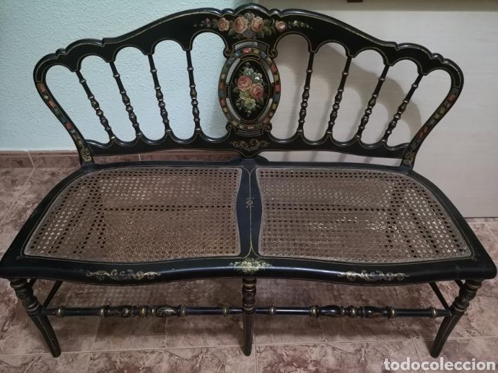BANCO RECIBIDOR ANTIGUO (Vintage - Muebles)