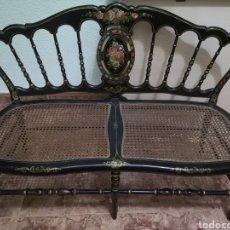 Vintage: BANCO RECIBIDOR ANTIGUO. Lote 286264893