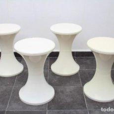 Vintage: LOTE DE 4 TABURETE TAM TAM KAPLAX BLANCO. AÑOS 70.. Lote 286490063