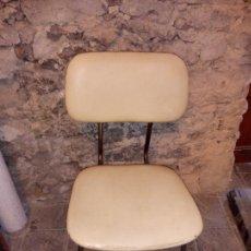 Vintage: ANTIGUA SILLA DE OFICINA DE COLOR CREMA Y DE SKAY DE MOBEL LINEA S.L. CERVERA DE LOS AÑOS 70. Lote 286870938