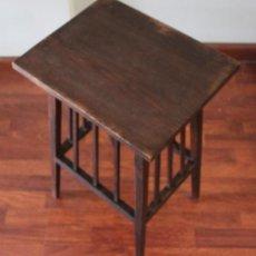 Vintage: ANTIGUO MUEBLE AUXILIAR, MADERA MACIZA, NOGAL, 63 CM DE ALTURA. Lote 287234753