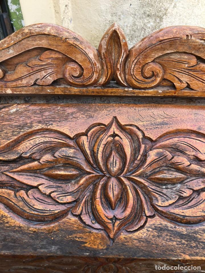 Vintage: Precioso arcón en madera tallado, con las tapas abatibles. - Foto 9 - 287582558