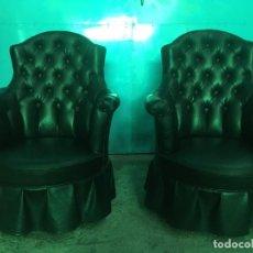 Vintage: PAREJA DE BUTACAS TIPO CHESTER. Lote 288222178