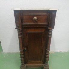 Vintage: MESA VINTAGE EN MADERA CON TOPE DE MARMOL. Lote 288906873