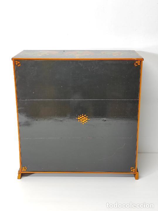 Vintage: Precioso Mueble Oriental - Madera Maciza Policromada - con Puertas y Cajones - Foto 23 - 291907053