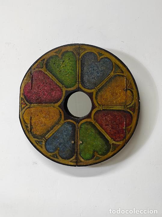 Vintage: Curioso Espejo con Puertas - Pintado a Colores - Retro, Vintage - Foto 3 - 291962778