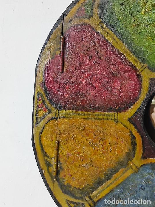 Vintage: Curioso Espejo con Puertas - Pintado a Colores - Retro, Vintage - Foto 4 - 291962778