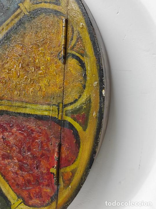 Vintage: Curioso Espejo con Puertas - Pintado a Colores - Retro, Vintage - Foto 5 - 291962778