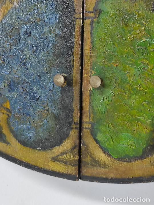 Vintage: Curioso Espejo con Puertas - Pintado a Colores - Retro, Vintage - Foto 6 - 291962778