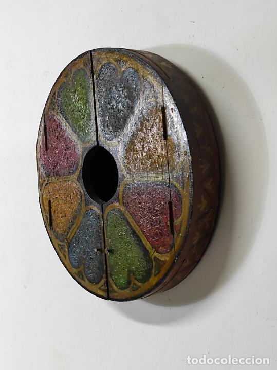 Vintage: Curioso Espejo con Puertas - Pintado a Colores - Retro, Vintage - Foto 7 - 291962778