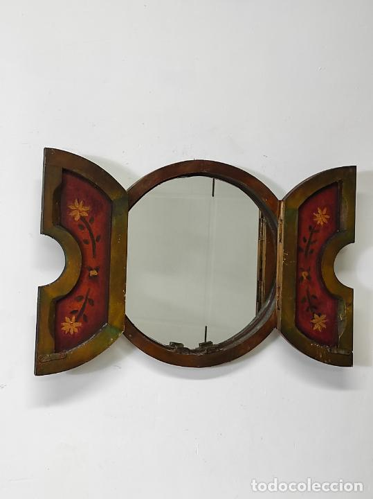 Vintage: Curioso Espejo con Puertas - Pintado a Colores - Retro, Vintage - Foto 8 - 291962778