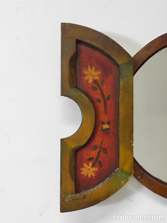 Vintage: Curioso Espejo con Puertas - Pintado a Colores - Retro, Vintage - Foto 10 - 291962778