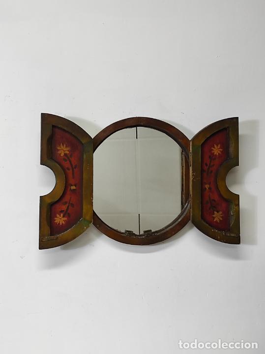 Vintage: Curioso Espejo con Puertas - Pintado a Colores - Retro, Vintage - Foto 15 - 291962778