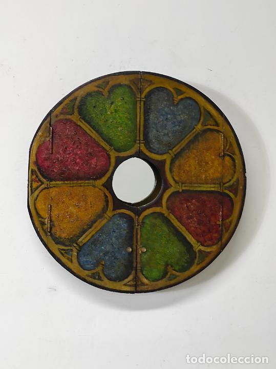 Vintage: Curioso Espejo con Puertas - Pintado a Colores - Retro, Vintage - Foto 16 - 291962778