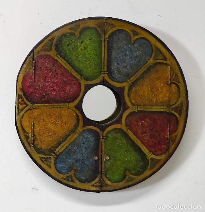 Vintage: Curioso Espejo con Puertas - Pintado a Colores - Retro, Vintage - Foto 2 - 291962778