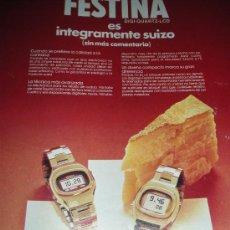 Vintage: LOTE DE PUBLICIDAD DE LOS PRIMEROS RELOJES DIGITALES. SEIKO, POTENS, FESTINA, SELECCION ROYAL. Lote 25440644