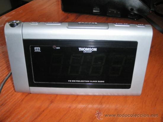 Vintage: Reloj radio despertador Thomson - Foto 7 - 36679245