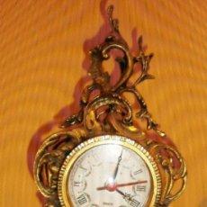 Vintage: RELOJ DE SOBREMESA EN BRONCE CON MAQUINARIA DE QUARTZ.. Lote 37761290
