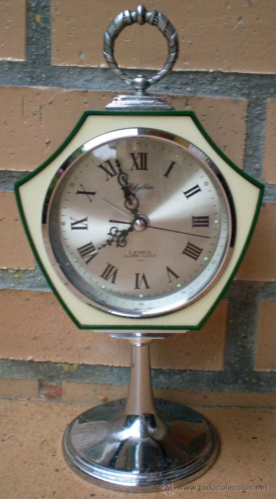 RELOJ RHYTHM VERDE, DISEÑO TULIP, MADE IN JAPAN (Relojes - Relojes Vintage )