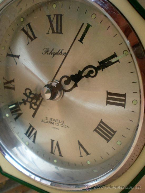 Vintage: Reloj Rhythm verde, diseño Tulip, Made in Japan - Foto 2 - 38322521
