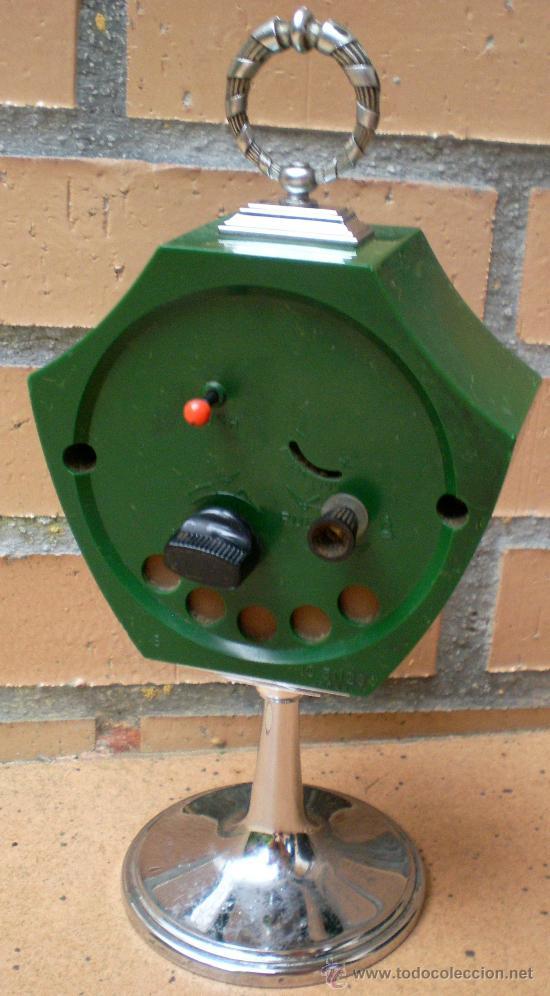 Vintage: Reloj Rhythm verde, diseño Tulip, Made in Japan - Foto 4 - 38322521