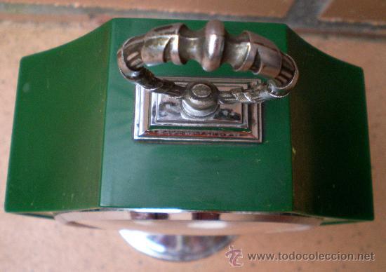 Vintage: Reloj Rhythm verde, diseño Tulip, Made in Japan - Foto 5 - 38322521