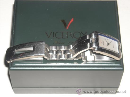 Vintage: reloj de señora viceroy de pulsera, en acero inoxidable, - Foto 3 - 39039236