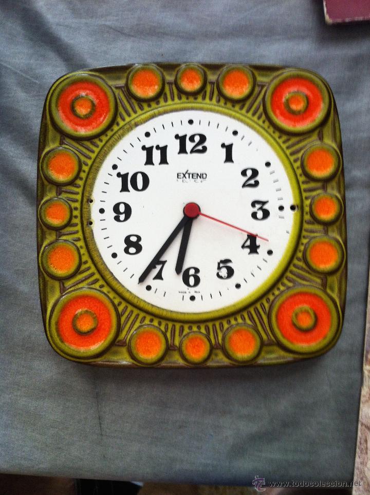Reloj de pared de cocina en cer mica alemana v comprar - Reloj cocina original ...