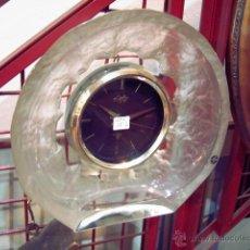 Vintage: RELOJ DE CRISTAL PARED O SOBREMESA FUNCIONANDO A PILAS, HOYA CORPORATION - JAPON. Lote 46915157