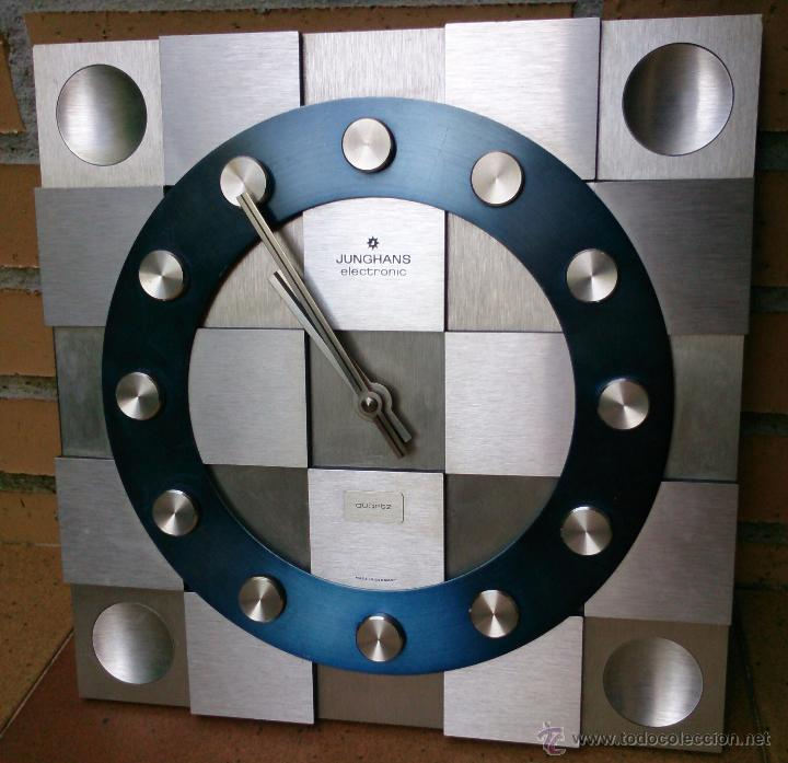 RELOJ DE PARED JUNGHANS ELECTRONIC QUARTZ MADE IN GERMANY, AÑOS 70 (Relojes - Relojes Vintage )