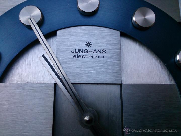 Vintage: Reloj de pared Junghans Electronic Quartz Made in Germany, años 70 - Foto 2 - 49895807
