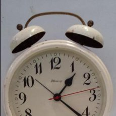 Vintage: ANTIGUO RELOJ DESPERTADOR GIGANTE BLESSING FUNCIONANDO - DIAMETRO 20 CM. - WEST GERMANY. Lote 50731994