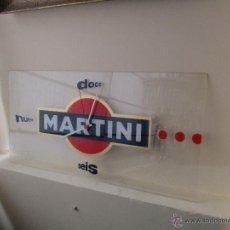Vintage: RELOJ DE METACRILATO PUBLICIDAD DE MARTINI. Lote 50754647