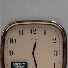 Vintage: ANTIGUO RELOJ DE PARED SEIKO DORADO - MADE IN JAPAN - FUNCIONANDO. Lote 50766568
