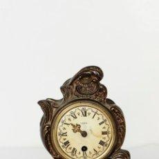 Vintage: RELOJ DE CALAMINA 15,5 X 8 CM (VER FOTOS). Lote 51455053