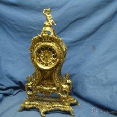 Vintage: ANTIGUO RELOJ DE BRONCE CON FIGURAS DE QUERUBINES - FUNCIONA. Lote 54066520