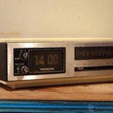 Vintage: RELOJ DESPERTADOR VINTAGE SOUNDESIGN 1970S FLIP CLOCK NÚMEROS VOLCABLES SINGAPUR. Lote 54840902