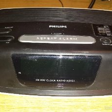Vintage: RADIO RELOJ DESPERTADOR PHILIPS AJ 3121 / FUNCIONANDO Y COMO NUEVO.. Lote 56032599