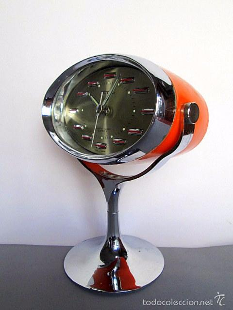 Pedestal Con Años Space Tulip Royal 70 Y Espacial Reloj Carga Marca Cromado Manual Naranja Age XiOwPZTlku
