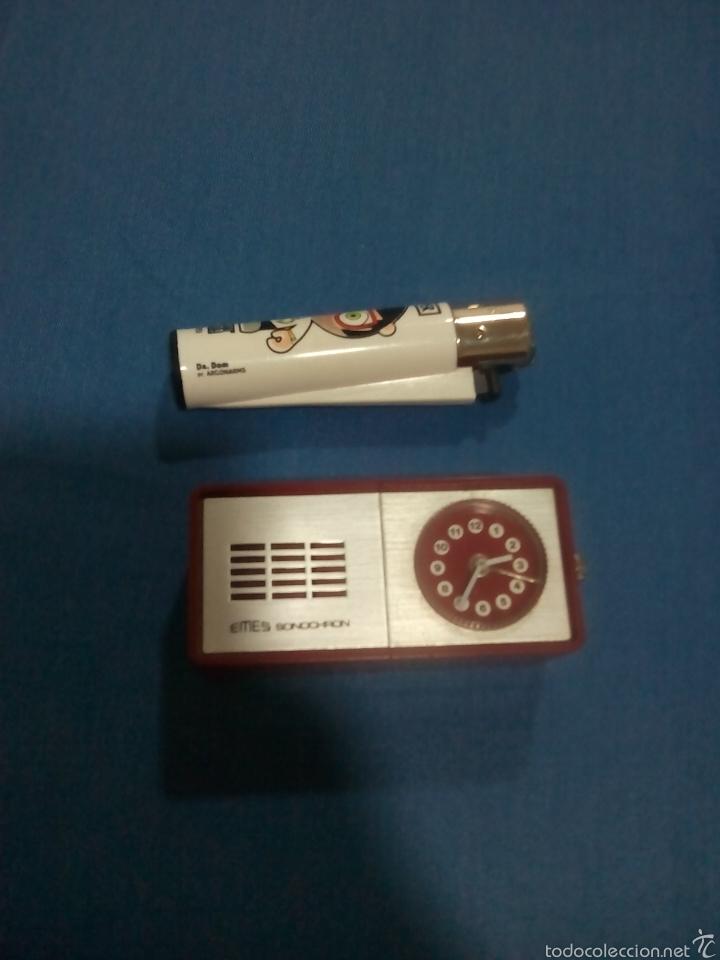 Vintage: Reloj alarma EMES sonochron aleman - Foto 4 - 58189784